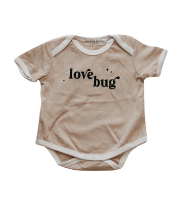 Short Sleeve Romper, Love Bug | Piper Bug | Little Lights Co.