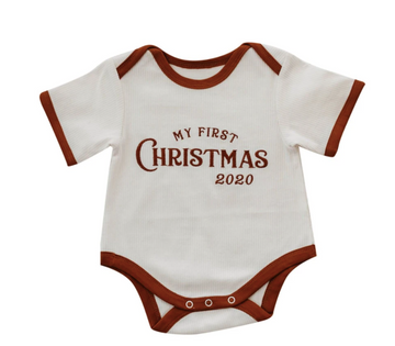 My First Christmas Romper/Tee | Piper Bug