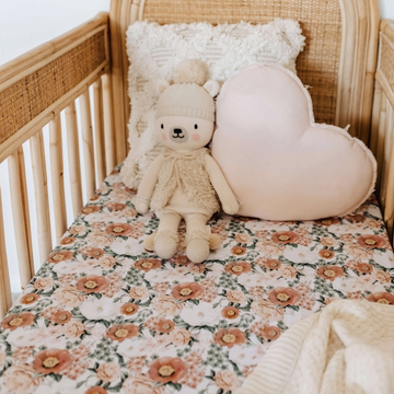 Snuggle Hunny Kids | Fitted Cot Sheet - Florence