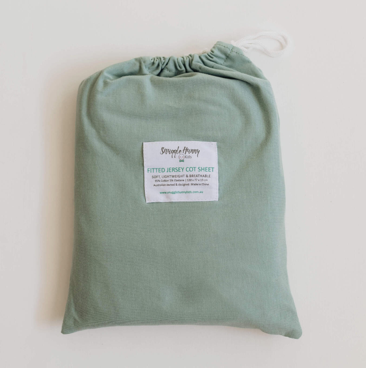 Snuggle Hunny Kids | Fitted Cot Sheet - Sage