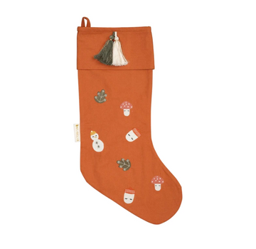 Christmas Stocking Embroidered - Forest | Fabelab