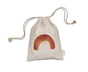 Christmas Gift Bag Embroidered - Rainbow | Fabelab