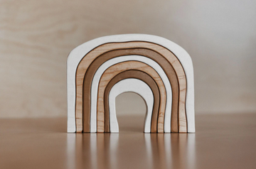 Wooden Stacking Rainbow, Almond | The Woodlands Toys
