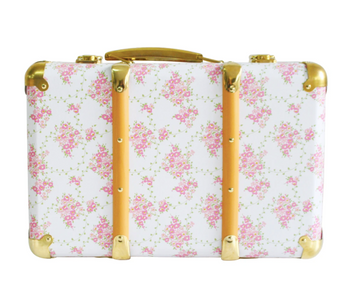 Alimrose | Vintage Style Suitcase - Floral Wreath White