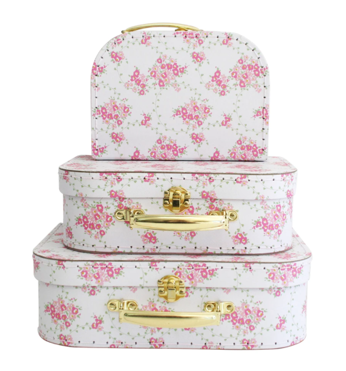 Alimrose | Carry Case Set 3pcs - Floral Wreath White