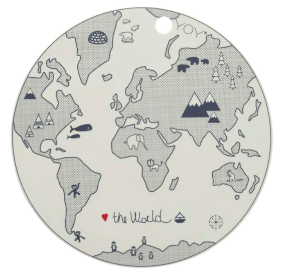 OYOY | Silicone Placemat - World