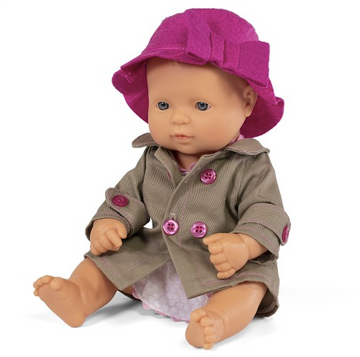 Miniland Anatomically Correct Baby Doll Caucasian Girl + outfit, 32cms