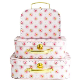 Carry Case Set 3pcs - Floral Medallion | Alimrose | Little Lights Co.