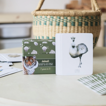 Animals Snap AND Go Fish | Modern Monty | Little Lights Co.