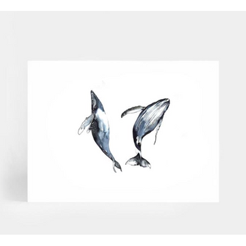 Dancing Whales A4 | Leden | Little Lights Co.