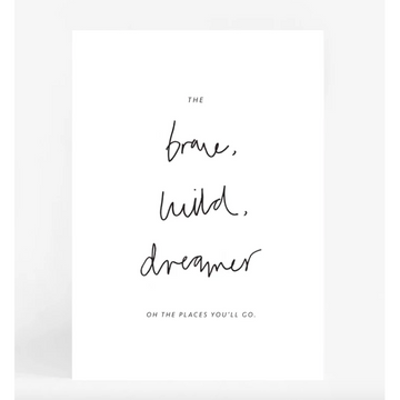 Brave, Wild, Dreamer A4 | Leden | Little Lights Co.