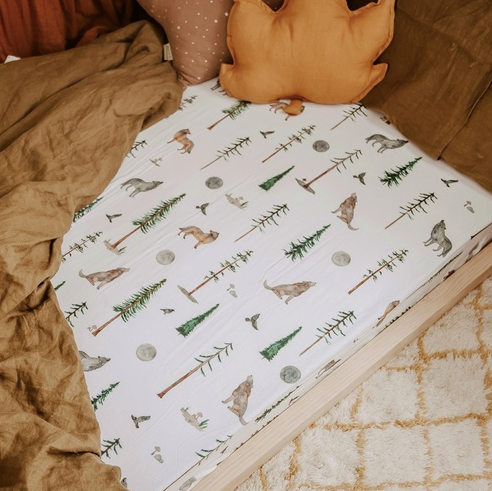 Alpha Fitted Cot Sheet | Snuggle Hunny Kids | Little Lights Co.