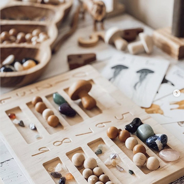 Wooden Learning Board | Grove & Willow - Little Lights Co.