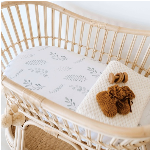 Wild Fern Bassinet Sheet / Change Pad Cover | Snuggle Hunny Kids | Little Lights Co.
