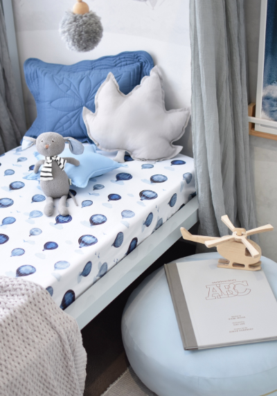 Snuggle Hunny Kids | Fitted Cot Sheet - Cloud Chaser - Little Lights Co.