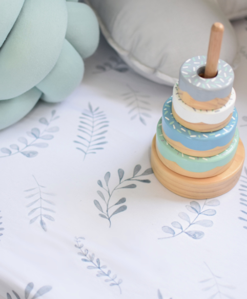 Wild Fern Fitted Cot Sheet | Snuggle Hunny Kids | Little Lights Co.