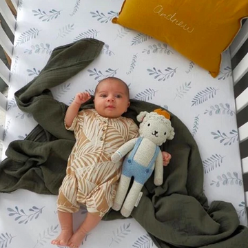 Wild Fern Fitted Cot Sheet | Snuggle Hunny Kids - Little Lights Co.