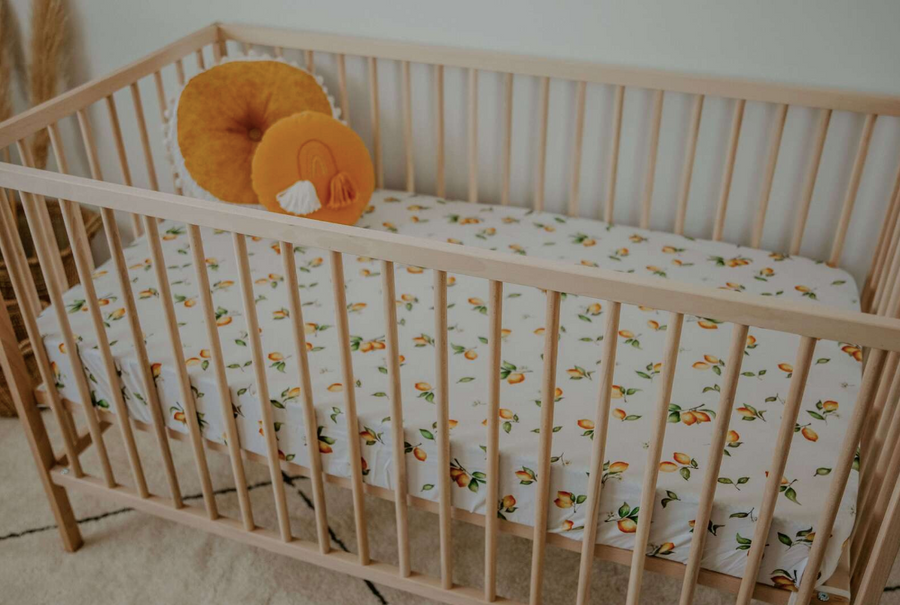 Snuggle Hunny Kids | Fitted Cot Sheet - Lemon - Little Lights Co.