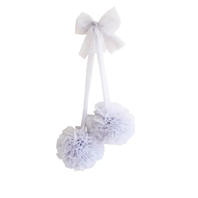 Tulle Pom Pom Decor Set 2pcs - Mist | Alimrose | Little Lights Co.
