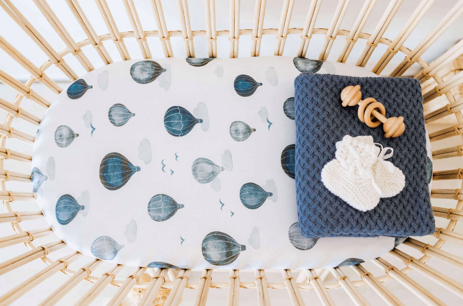 Cloud Chaser Bassinet Sheet / Change Pad Cover | Snuggle Hunny Kids | Little Lights Co.
