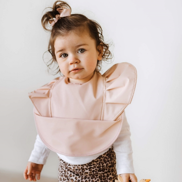 Blush Pink Snuggle Bib Waterproof | Snuggle Hunny Kids | Little Lights Co.