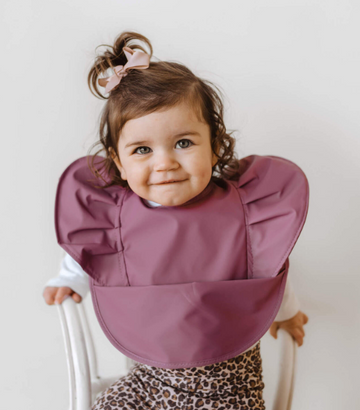 Mauve Snuggle Bib Waterproof | Snuggle Hunny Kids | Little Lights Co.