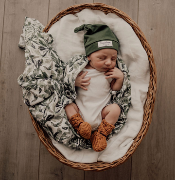 Organic Muslin Wrap, Evergreen | Snuggle Hunny Kids | Little Lights Co.