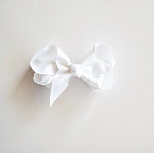 Bow Clip, White | Snuggle Hunny Kids | Little Lights Co.