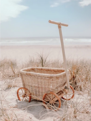 Rattan Wagon | Inkah | Little Lights Co.
