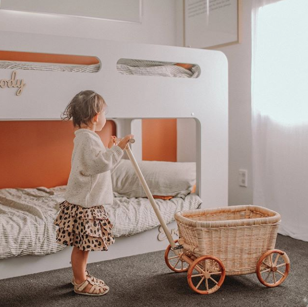 Rattan Wagon | Nudie Baby | Little Lights Co.