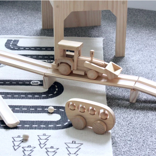 Wooden Ball Run Set | Grove and Willow | Little Lights Co.