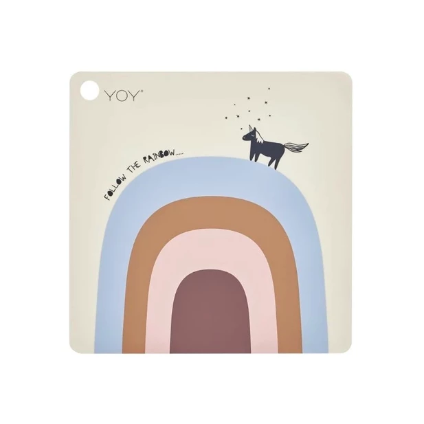 OYOY | Silicone Placemat - Follow the Rainbow - Little Lights Co.