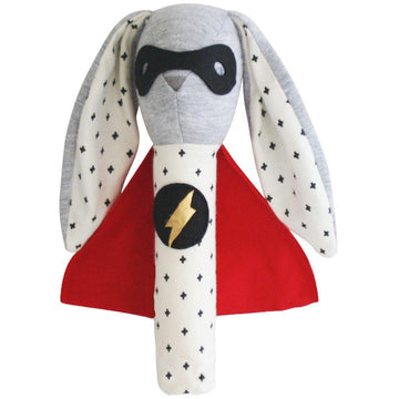 Super Hero Bunny Squeaker | Alimrose - Little Lights Co.
