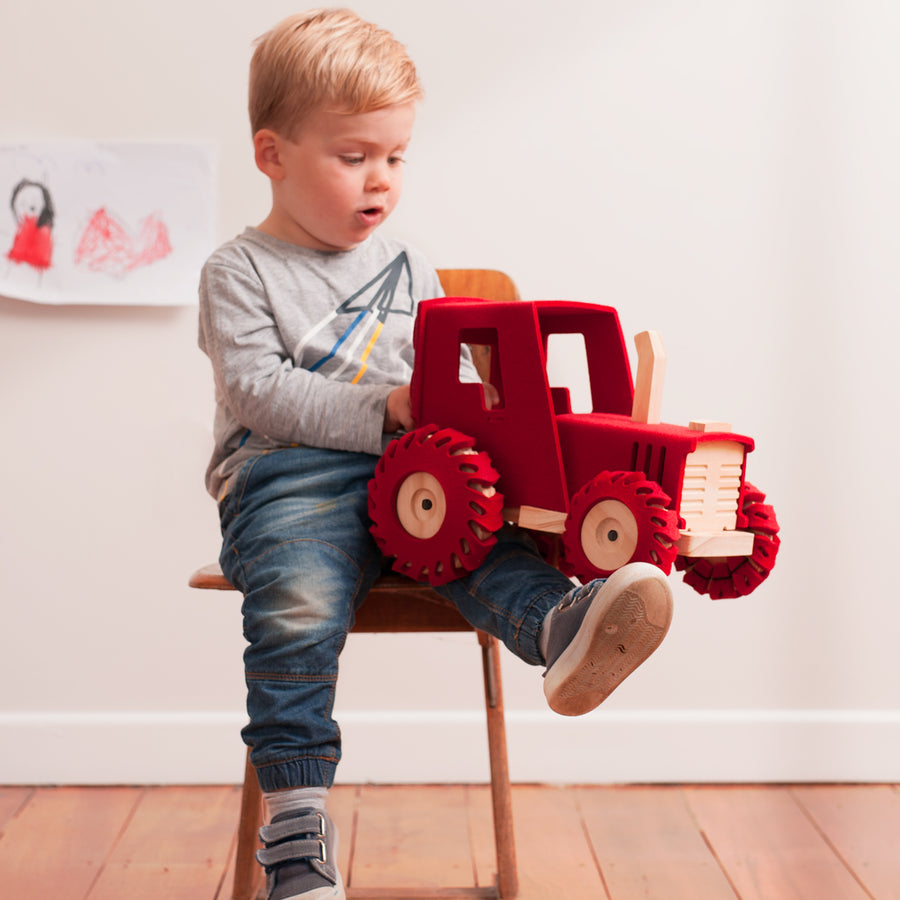The Big Red Tractor | Woolkin - Little Lights Co.
