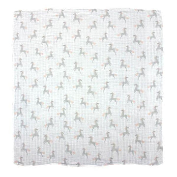 Misterfly Unicorn Print Muslin Wrap | Little Lights Co.