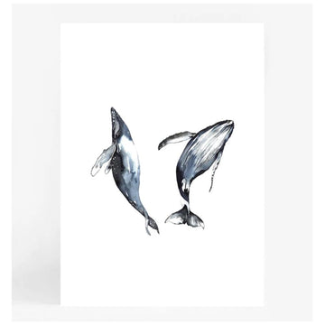 Dancing Whales A4 | Leden - Little Lights Co.