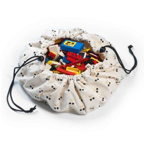 Cherry Gold Mini Storage Bag 40cm | Play & Go | Little Lights Co.