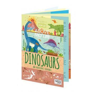 Dinosaurs and Prehistoric Creatures - Above and below book | Sassi Junior | Little Lights Co.