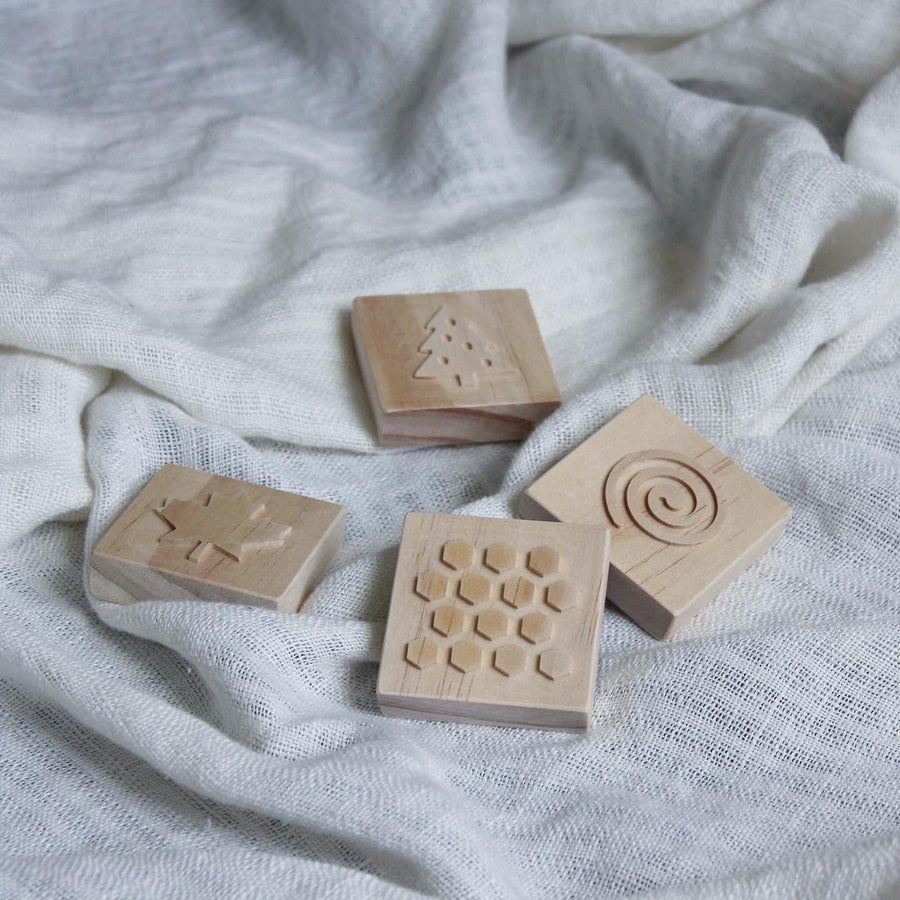 Wooden Dough Stamps | Grove & Willow | Little Lights Co.