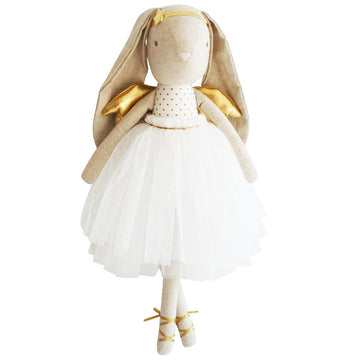 Alimrose | LINEN ESTELLE ANGEL BUNNY 50CM GOLD | Little Lights Co.
