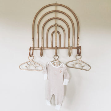 Heritage Romper Long, Beige | Piper Bug | Little Lights Co.