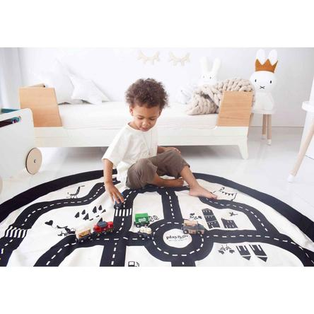 Road Map/Lightning bolt Storage Bag and Playmat 140CM | Play & Go - Little Lights Co.