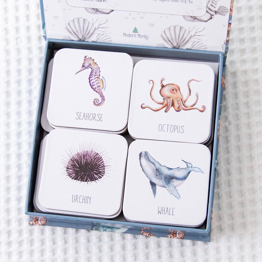 PRE ORDER - Ocean Memory Card Game | Modern Monty | Little Lights Co.