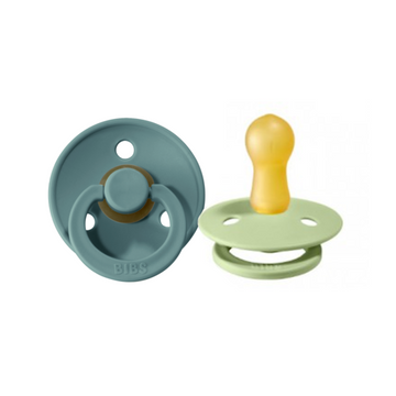 BIBS Pacifier Duo Pack - Tiffany / Pistachio - Size 2 | BIBS Dummies | Little Lights Co.