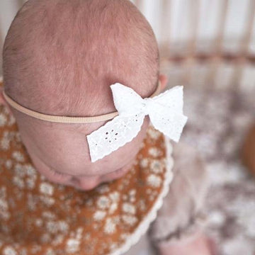 Broderie Ribbon Headband | Funny Bunny Kids | Little Lights Co.