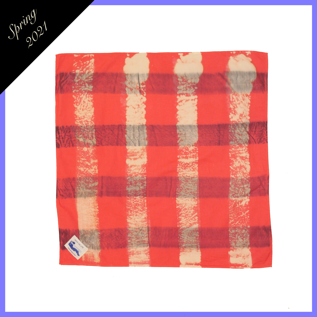 PALE POPPY PLAID HEADSCARF