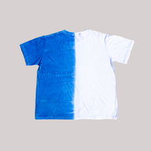 Load image into Gallery viewer, SPLIT TEE. NATURAL INDIGO.
