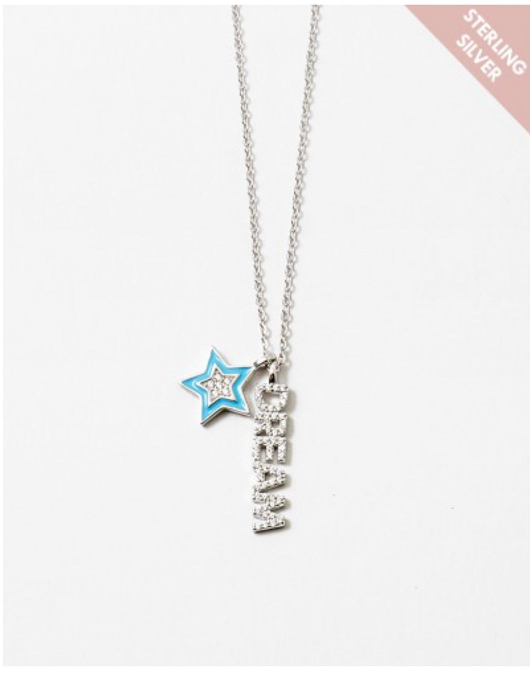 Sterling Silver Turquoise Star Dream Necklace