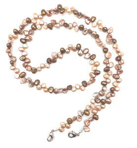 Mask Chain - Keshi Pearl, Assorted Brown
