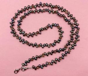 Mask Chain - Pearls, Grey